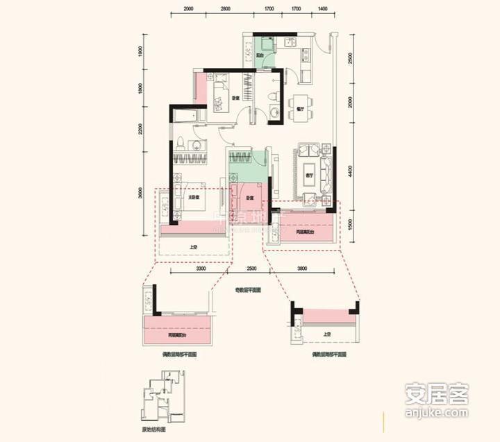 【多图】保利上城二手房 3室2厅 87平 390万元/套 《*