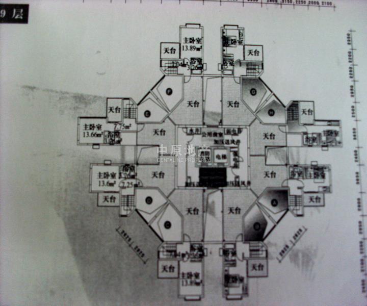 一百平五房一厅平面设计图纸展示