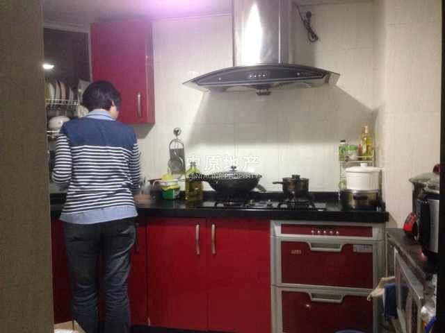 双一字型厨房效果图