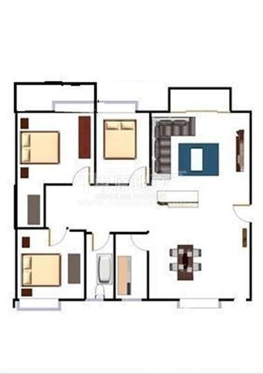 豪华欧式装修4房