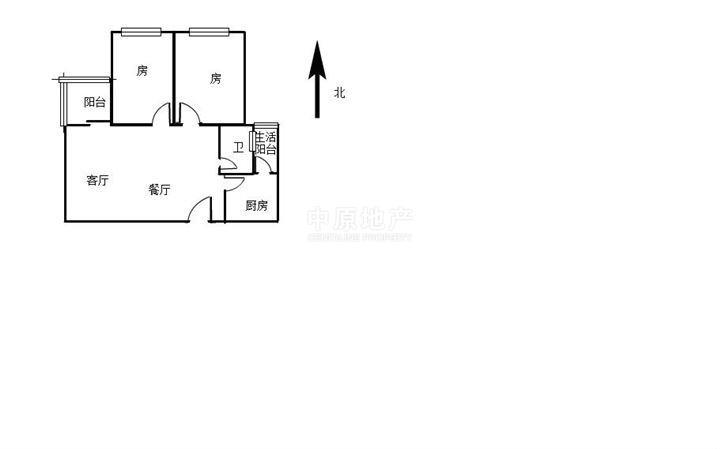 15平方改小两房结构图